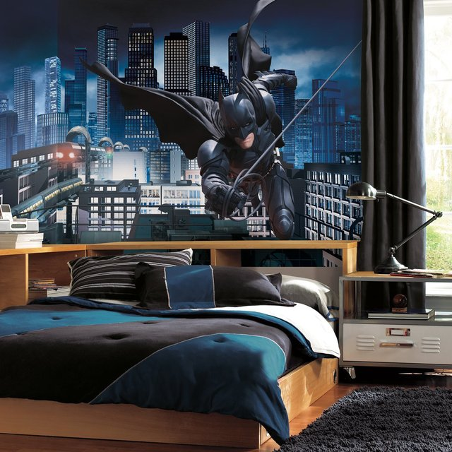 Batman Wall Mural Teens Room