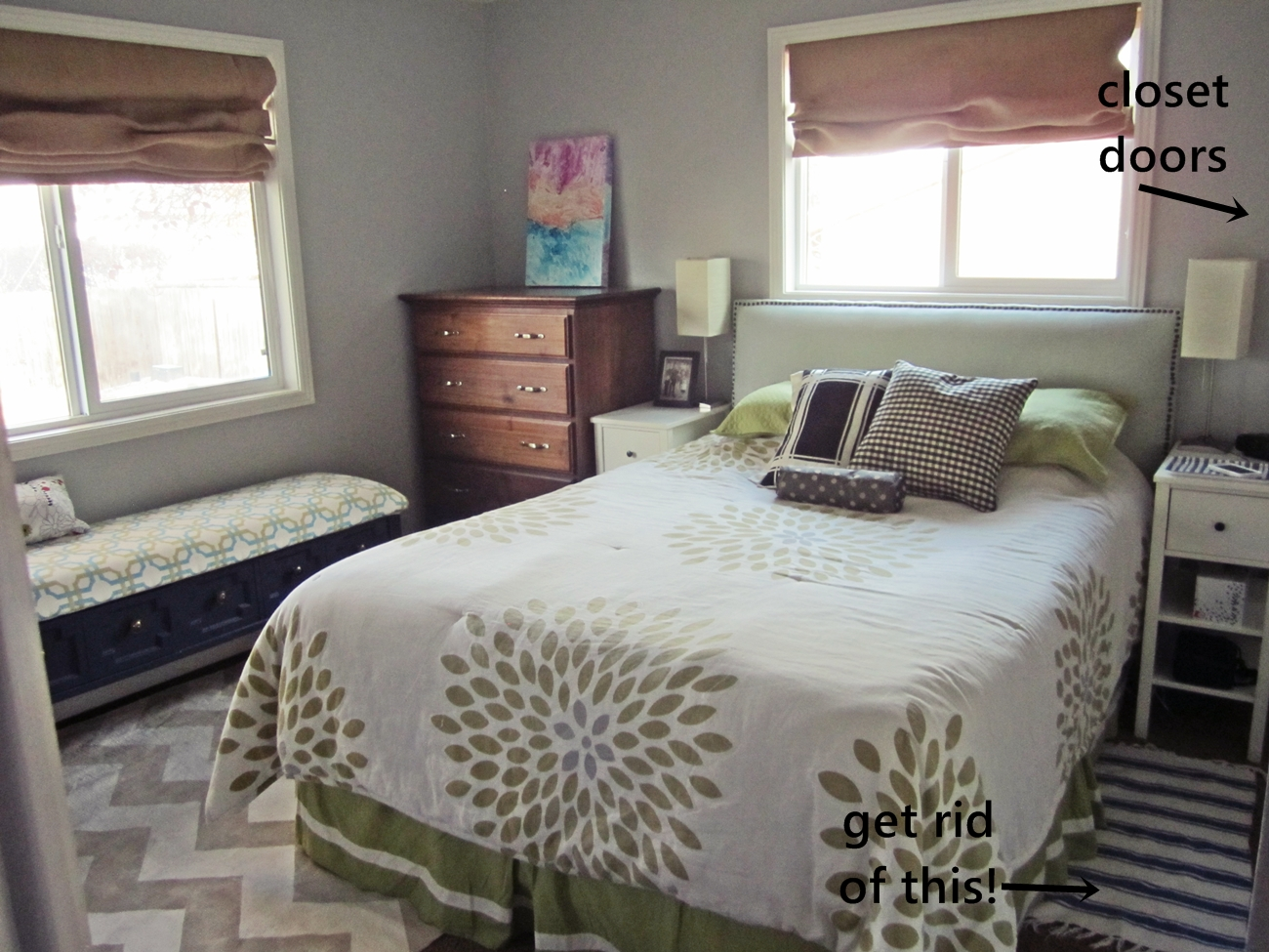 Smartgirlstyle master bedroom makeover furniture arrangement Master bedroom bed against window