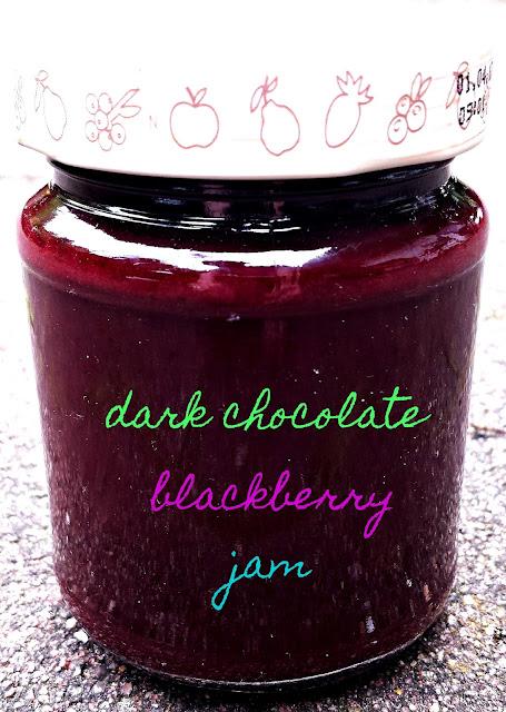dark chocolate blackberry jam