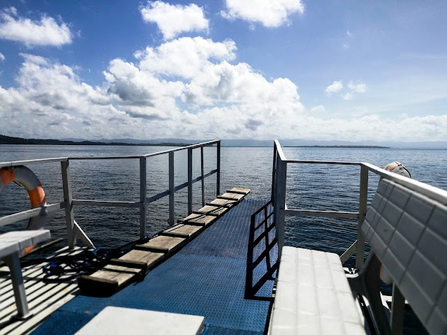 sea, blue sky, boat, tacloban based blogger, aqua momentum, banca cruise