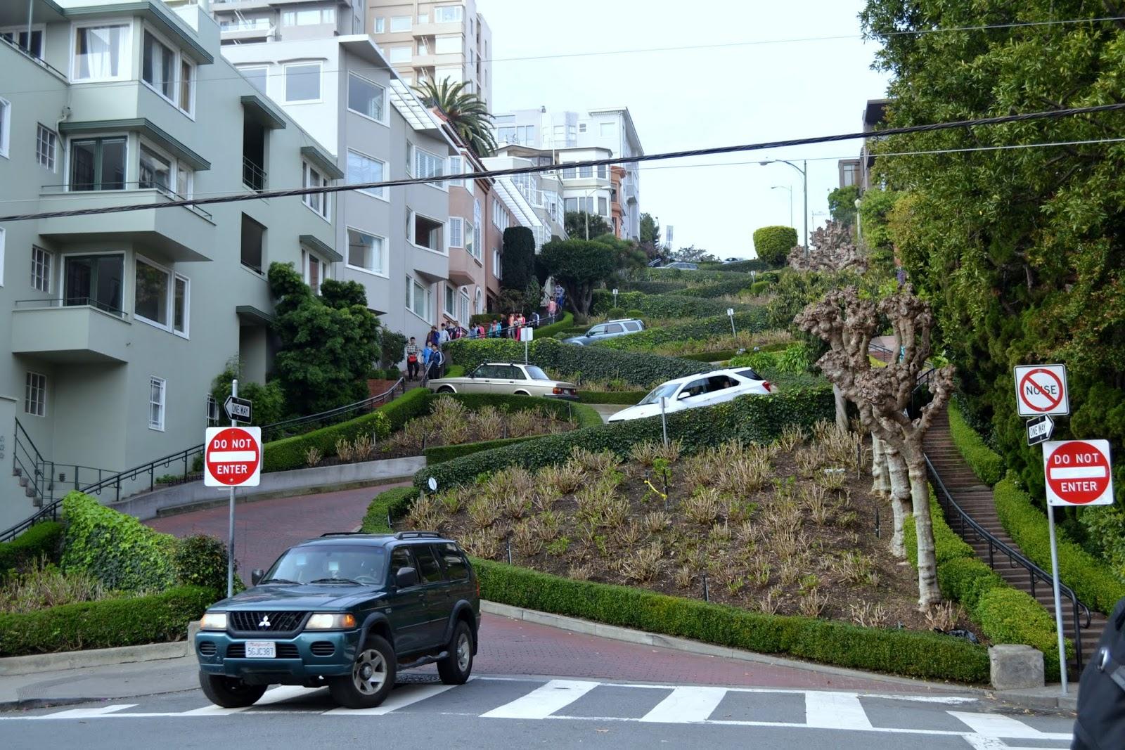 Сан-Франциско, улица Ломбард. (San Francisco, Lombard Street)