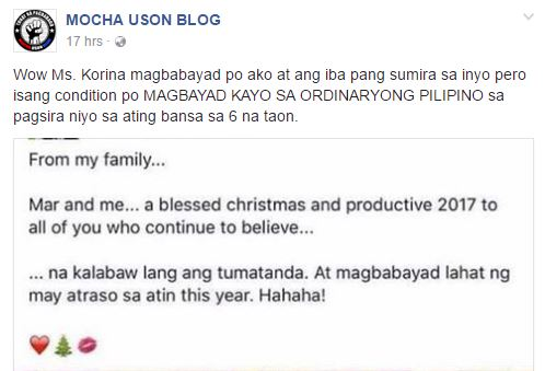 Korina Sanchez Says On Her Post: 'Magbabayad lahat ng may atraso sa atin this year'! What Did She Mean By That?