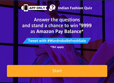Amazon Indian Fashion Quiz-Win Rs.5000