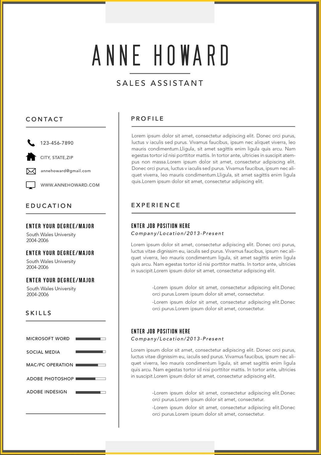 free modern resume templates word free modern resume templates microsoft word - Free Modern Resume Templates For Word
