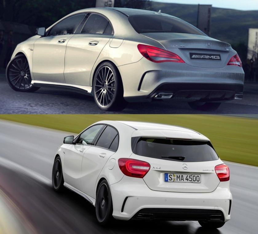 Speedmonkey: Mercedes A 45 AMG Vs CLA 45 AMG