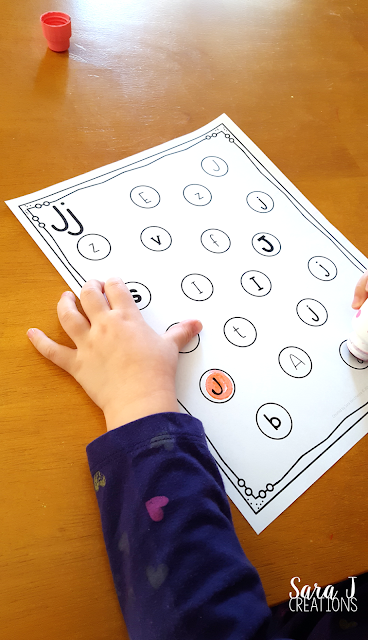 Letter J Activities that would be perfect for #preschool or #kindergarten. Art, fine motor, literacy and #alphabet practice all rolled into #Letter J fun. #sarajcreations