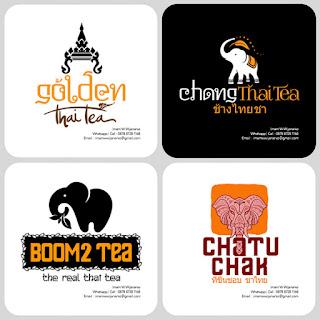 desain logo thai tea
