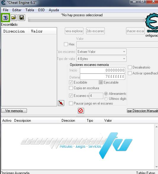 Cheat Engine 6.2 PC Español Instalado en Windows 7