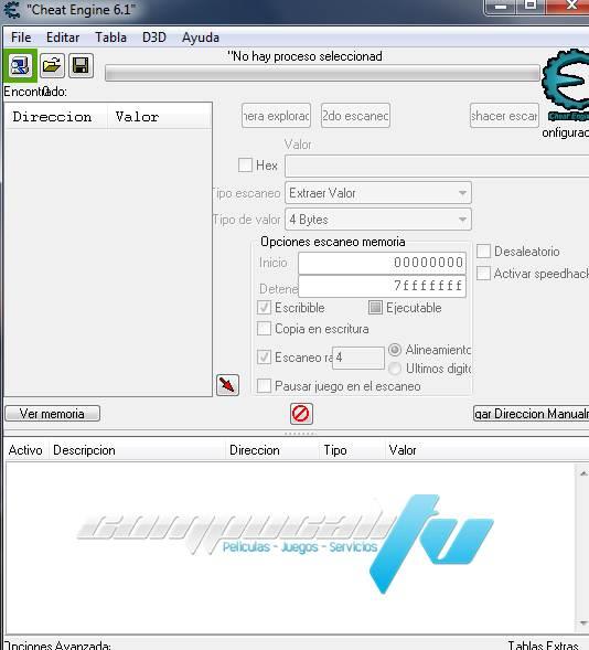 Cheat Engine 6.2 PC Español Instalado en Windows 7