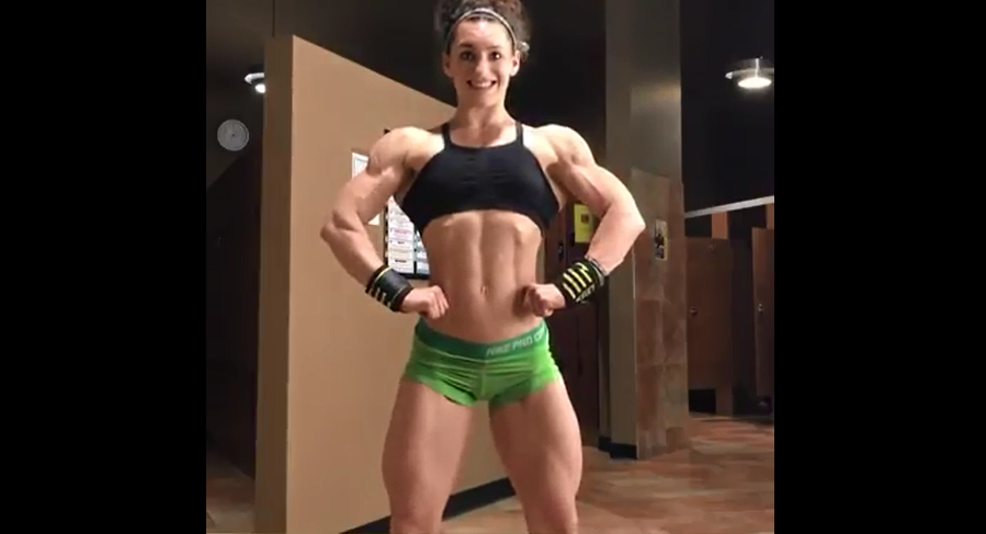 Video Princess of Female bodybuilder, Beauty and muscle
