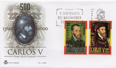 Sobre PDC de los sellos dedicados al 500 aniversario del nacimiento de Carlos V