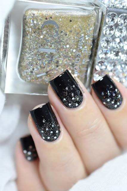 glitter gradient nail art tutorial