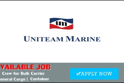 Seaman Job Vacancy For Bulk Carrier, General Cargo, Container
