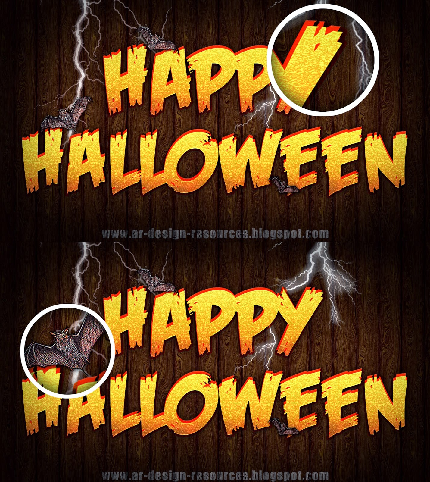 Halloween Text Effect — Photoshop Tutorial_Preview