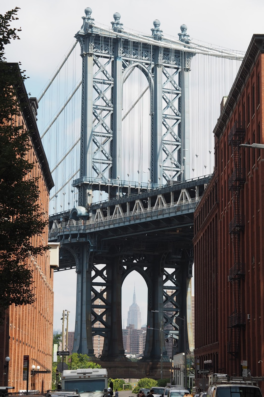 The Manhattan bridge view from Dumbo