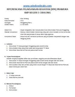 RPP PRAMUKA - RENCANA PELAKSANAAN KEGIATAN/RPK PRAMUKA SMP PENGGALANG PDF