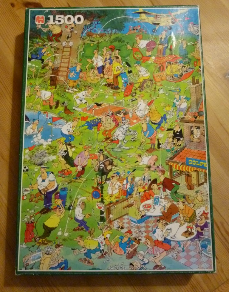 The latest addition to our collection of wacky golf puzzles. A 1500 piece Jan Van Haasteren / Jumbo