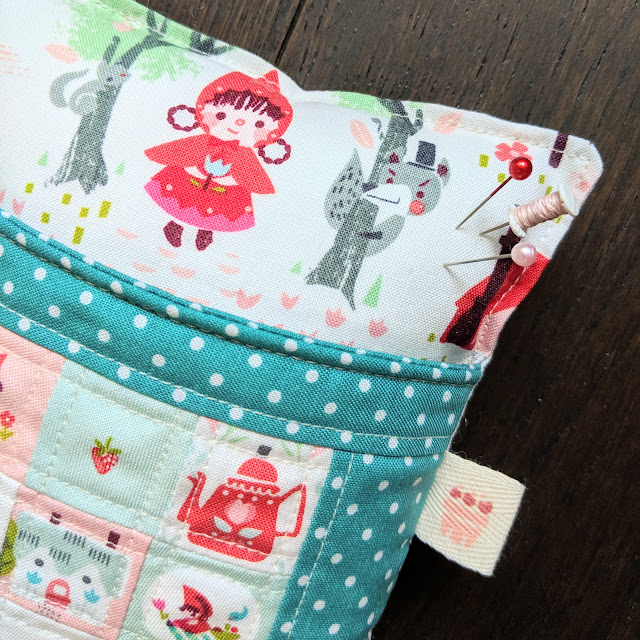 Little Red in the Woods Deluxe Pincushion by Heidi Staples from Sew Organized for the Busy Girl for Fabric Mutt