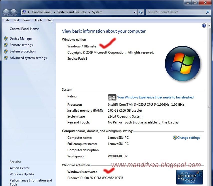 windows 7 ultimate service pack 1  32 bit crack