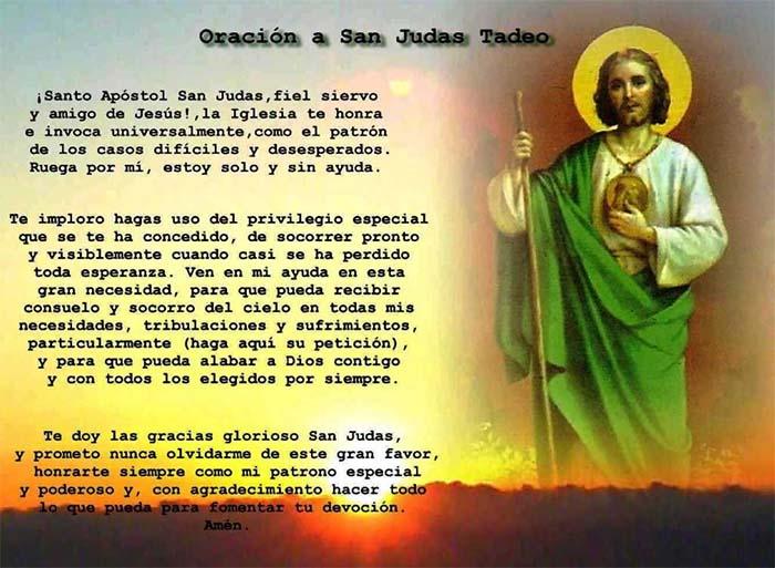Oracion San Judas Tadeo