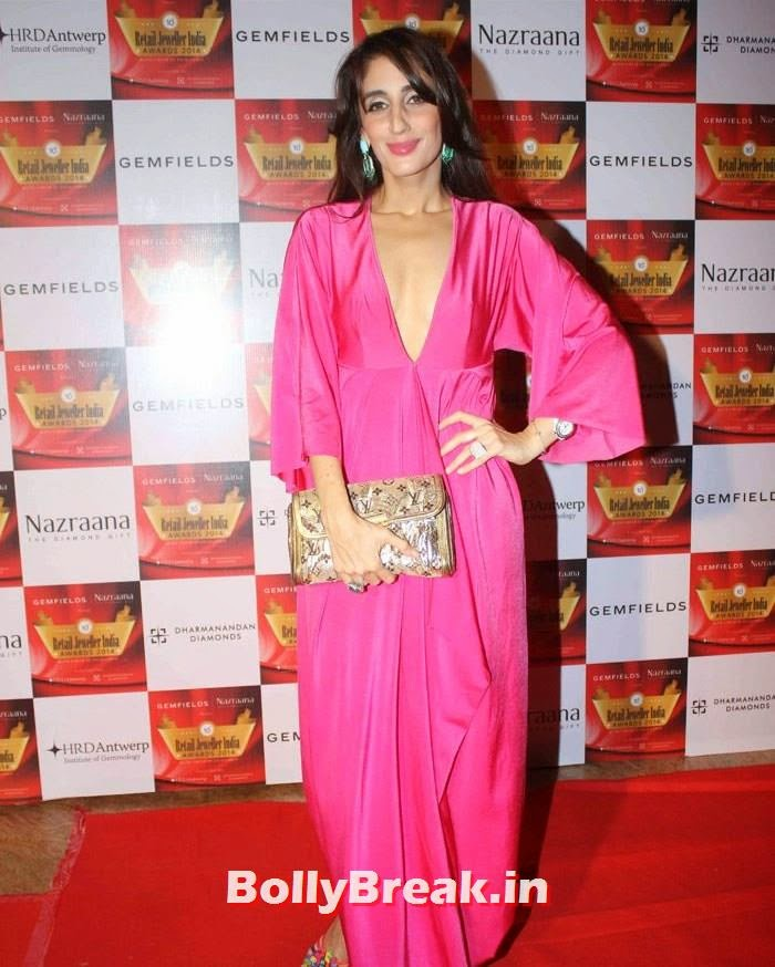 Farah Khan Ali, Pics of Celebs in Sexy Dresses & Gowns at Gemfields & Nazraana Retail Jeweller India Awards 2014