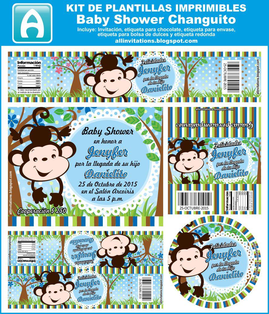 Kit Baby Shower Tema Changuito All Invitations