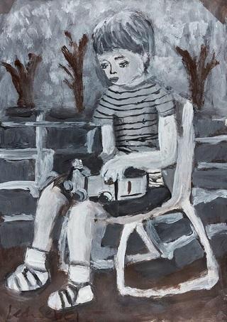 "Honourable Mention Young Archie 2018 - ""Child's play"" by Leah Sebel | creative emotional paintings, cool stuff, pictures, deep feelings, sad | obras de arte contemporaneo, cuadros, imagenes de pinturas tristes bonitas chidas bellas | peintures | pitturas"