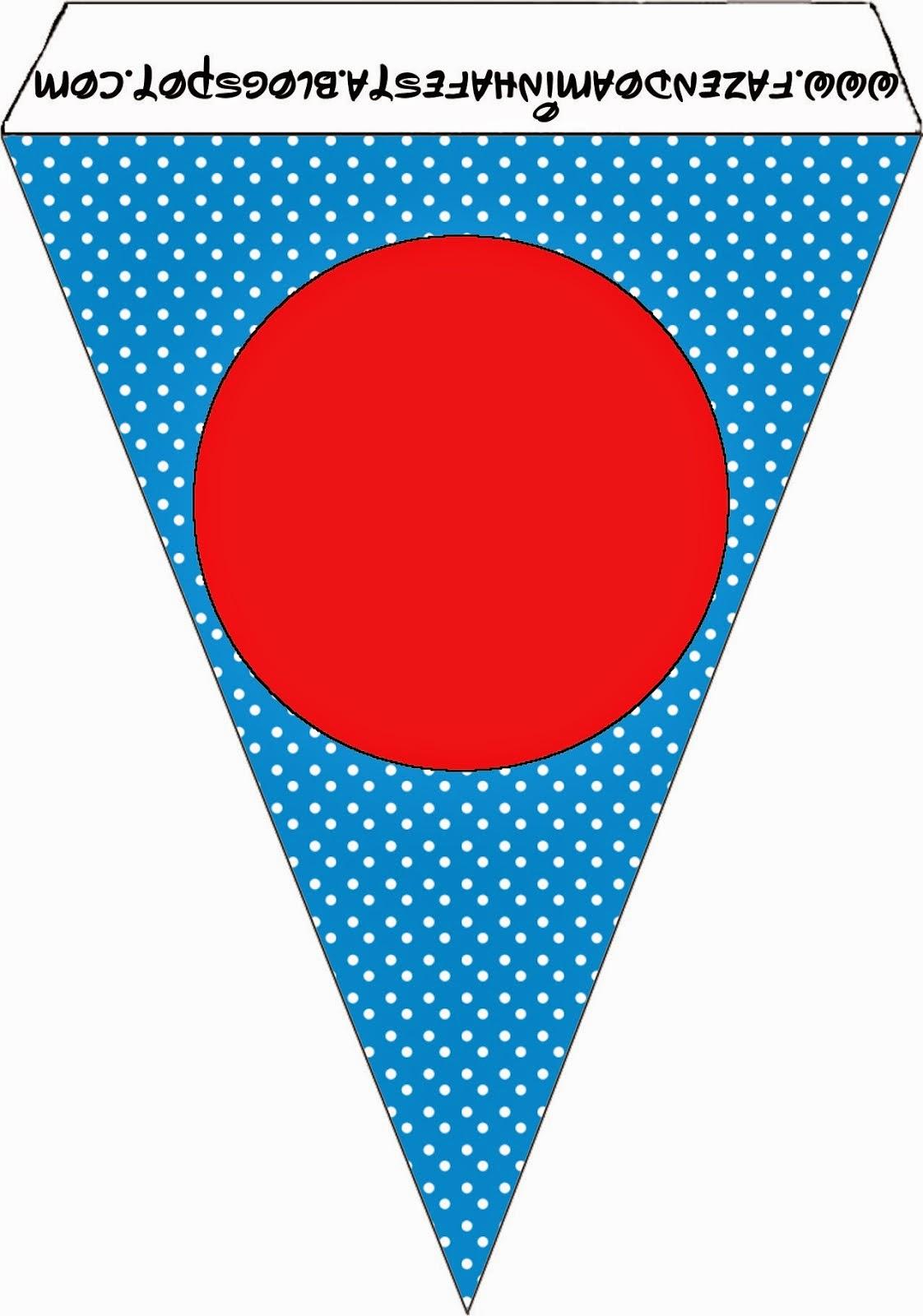 Banderines de Rojo, Amarillo y Azul para imprimir gratis.