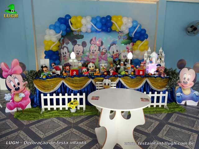 Mesa de tema tradicional luxo de tecido - pano- Decoração de aniversário feminino Baby Disney para festa infantil