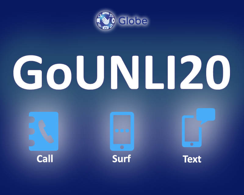 GoUNLI20 – Unli Calls to Globe/TM, Texts and Surf for Only