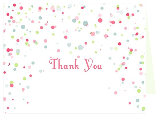 CONFETTI THANK YOU CARD BY THANKS LOT