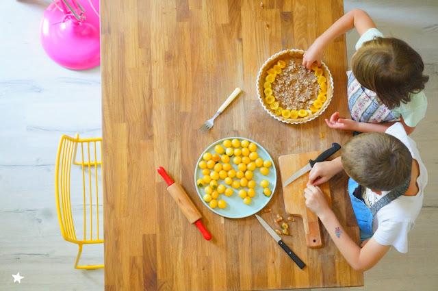 cuisiner avec les enfants mirabelles vegan