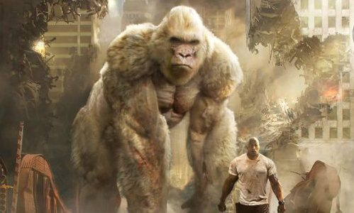 A giant gorilla and a winged wolf