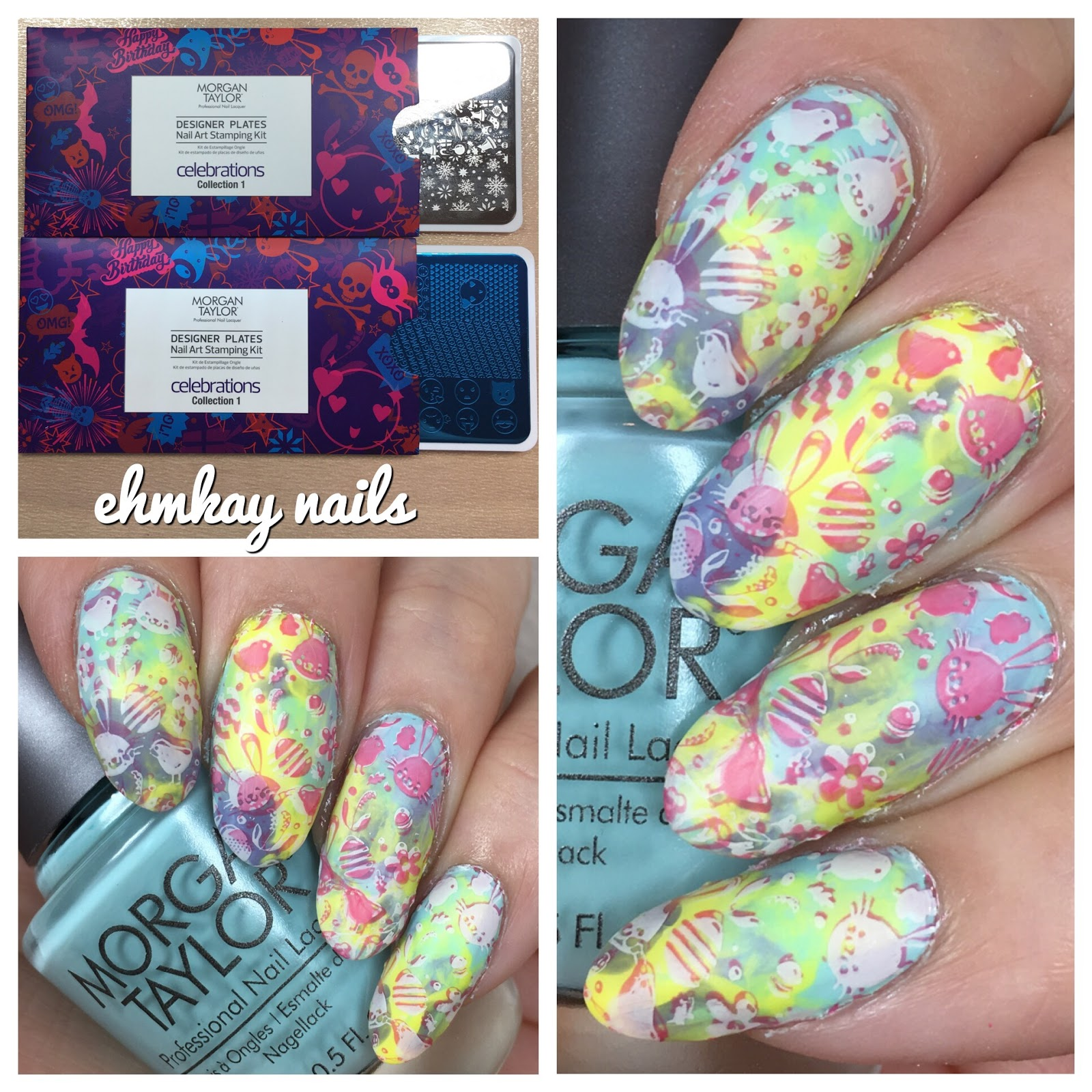 Ehmkay Nails Shy Bunny Easter Nail Art: Ehmkay Nails: Easter Stamping With Morgan Taylor