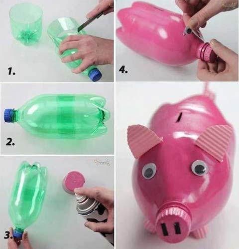 reciclando botellas pet