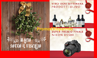 Logo Concorso #Bacio sotto il vischio e vinci kit Bottega Verde e macchina Nikon