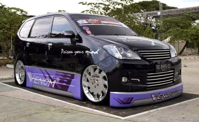Modifikasi mobil Toyota Avanza Venom