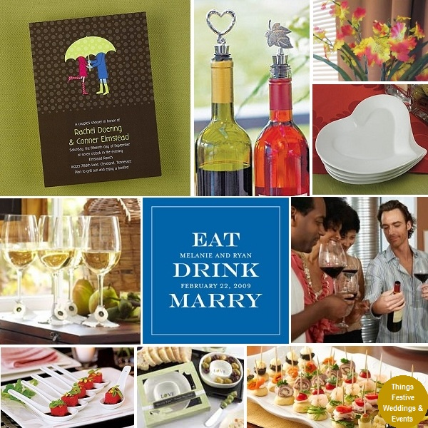 Wedding Reception Ideas For Older Couples: Couples Wedding Shower With Wine Tasting Theme