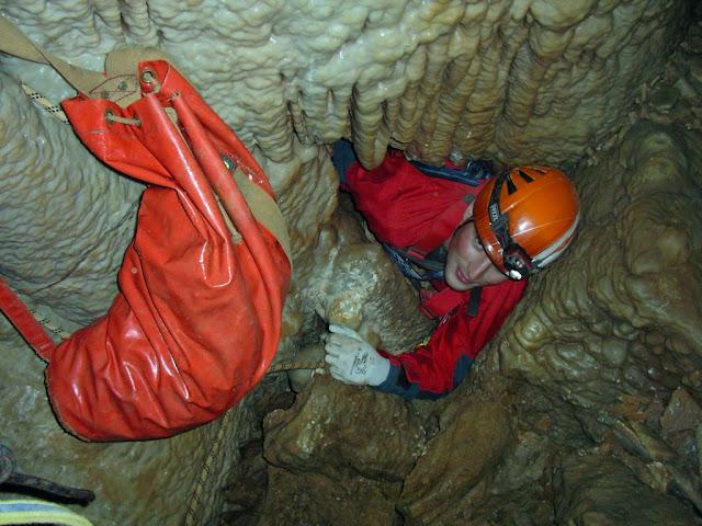 Accés al darrer pou de l'Afluent Blanc (Foto: Jordi Pasqual de http://quartsdequalls.blogspot.com.es)