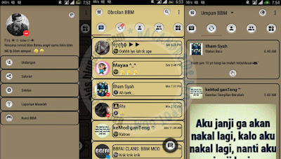 BBM Mod Soft brown v3.0.1.25 Apk Terbaru For Android Clone And Not Clone