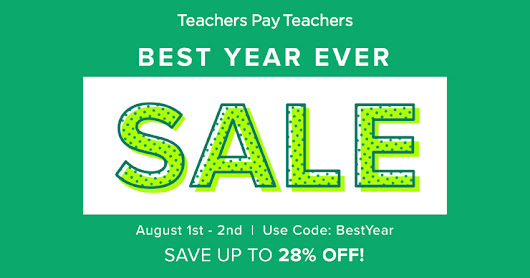 TpT Back to School Sale!