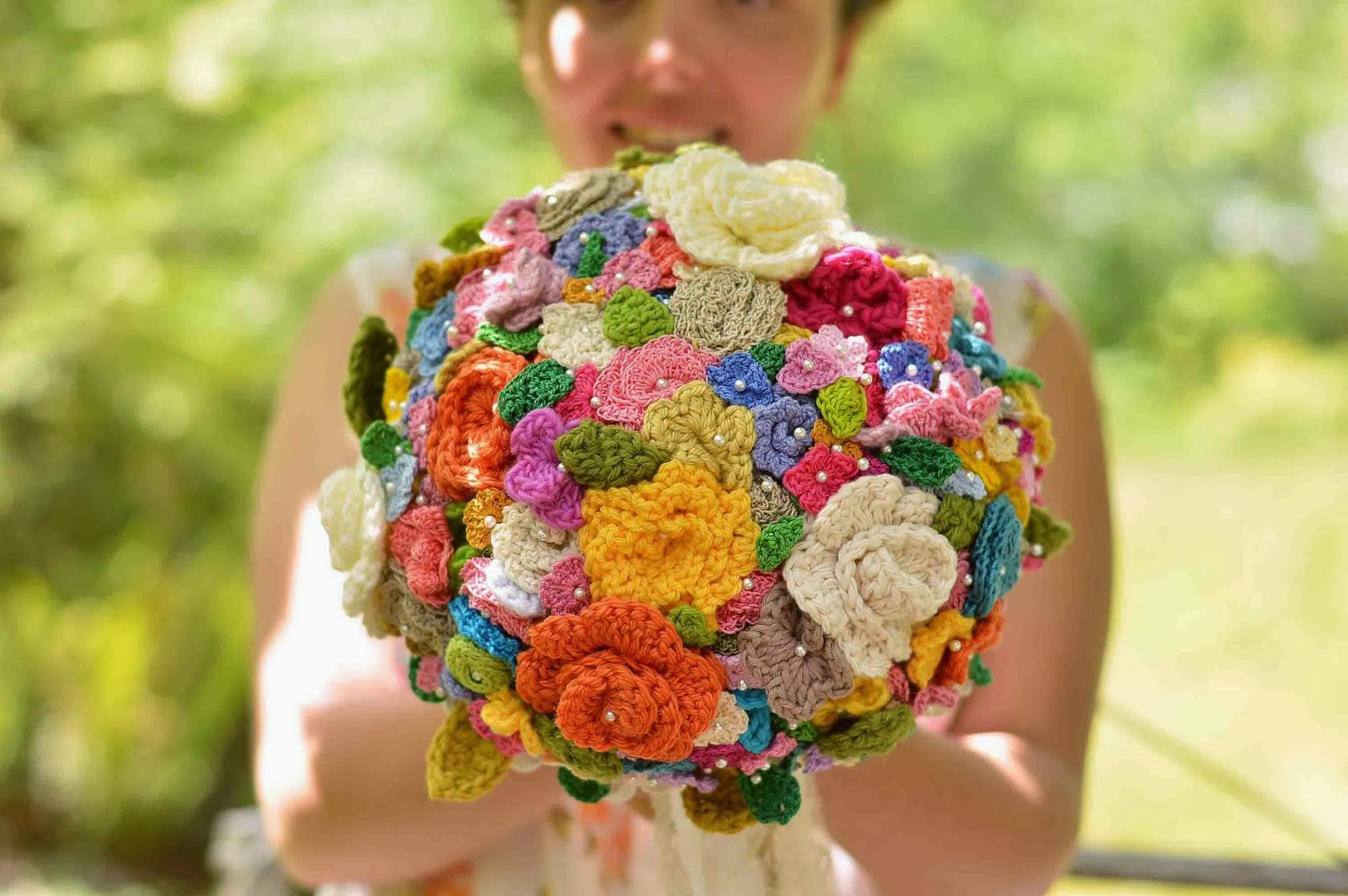 Croshayed Wedding Bouquet