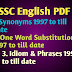 SSC English Notes PDF Download 1997 to till Date