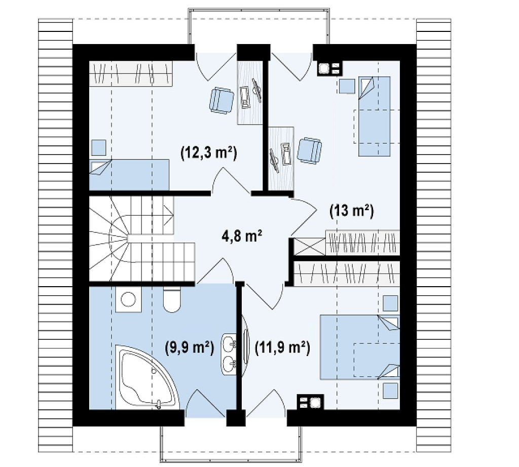 Free Home Blueprints and Floor Plans For Small Houses With Attic