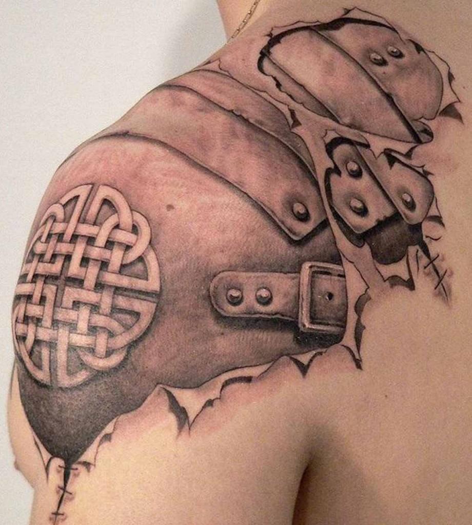 3d celtic tattoo design for shoulder 920x1024