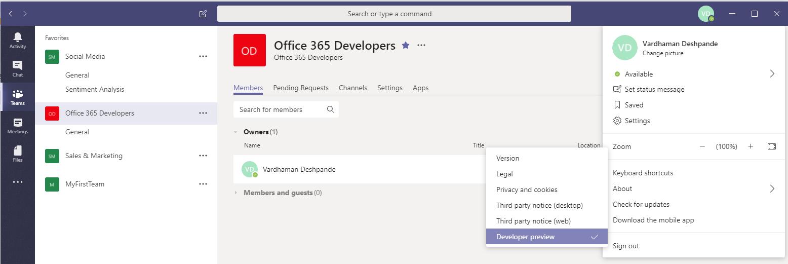 Vardhaman Deshpande: Debugging a Microsoft Teams Tab built with
