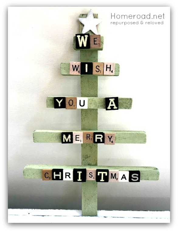 DIY  Scrabble Christmas Tree & Scrabble Cross