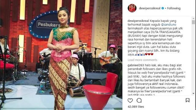 Postingan Dewi Persik