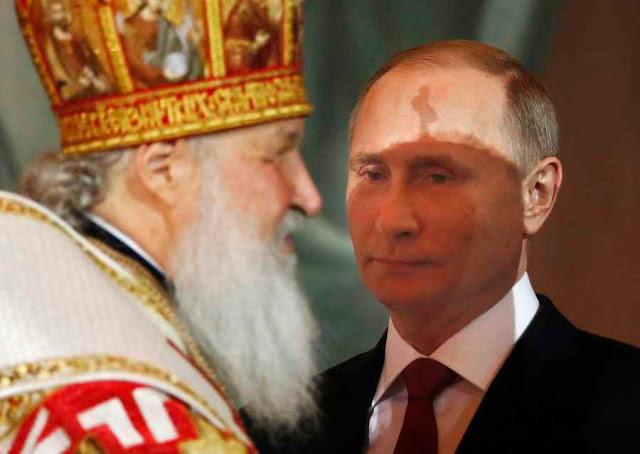 Putin precisa bancar de 'ungido' pela religião cismática, que ele segura com punho de ferro!