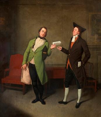 John Bannister and Richard Suett in 'Sylvester Daggerwood' by Samuel de Wilde